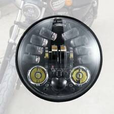 "New 5.75"" 5 3/4"" Round LED Headlight Motorcycle Amber Turn for Harley Davidson"
