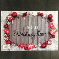 € 53,96/qm / Fußmatte Frohe Weihnachten Des.938 Grau Weiß Rot / 40 cm*60 cm