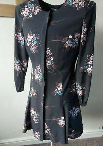 Fenn Wright Manson Petite Button Through Dress Size 10 Uk
