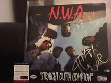 Ice Cube Signed Auto NWA Straight Outta Compton Vinyl - PSA/DNA