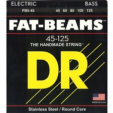 DR FB5-45 Fat-Beams Stainless Steel 5 String Bass Guitar Strings 45-125 MED