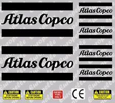 Atlas Copco compresseur decals autocollants sticker.