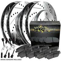 CERAMIC Pads 2702 Platinum Hart *DRILLED /& SLOTTED* Brake Rotors FRONT KIT