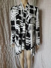 Joseph Ribkoff open front asymmetrical cover up cardigan jacket 2XL?, pits - 48""