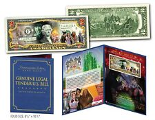 WIZARD OF OZ Cast Genuine U.S. $2 Bill in SPECIAL 8x10 COLLECTIBLE GIFT DISPLAY