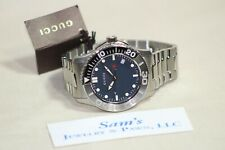 Men Gucci Watch: G-Timeless Sport Dark Blue Dial Black/Silver Bezel # YA126253