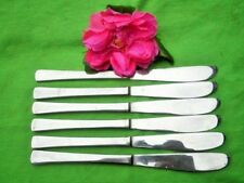 DINNER KNIVES X6 STANLEY ROGERS SERATED STAINLESS STEEL 2 SETS AVAILABLE