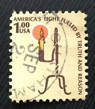 United States of America stamps - Rush Lamp and Candle Holder $1 1979