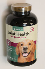 NaturVet Joint Health For Dogs Level 2 Moderate Care 120 Chewable Tabs exp 08/19