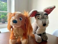 Disney Vintage Set Lady And The Tramp Plush Stuffed Animal Set of 2