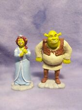 SHREK & FIONA General Mills PVC Figures Cake Topper Lot Set 2007 Dreamworks