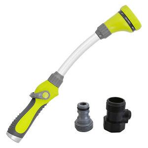 8 Function Quick Connect Garden Hose Pipe Lance Plants Water Spray Gun Car Wash
