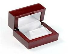 Hi Qual Cherry Rosewood Wood Wooden Earring Jewelry Box