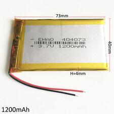 3.7V 1200mAh Batería recargable de polímero Lipo 404073 para grabadora de DVD altavoces