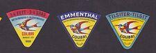 Anciennes  petites étiquettes fromage Suisse   BN16942 Oiseau Colibri 3
