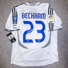 David Beckham Signed 2006 2007 Real Madrid FC White Jersey BAS COA