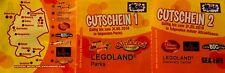 gutschein,coupon 2 für 1  Legoland Gardaland Sealife Heidepark, 2 mal freier Ein
