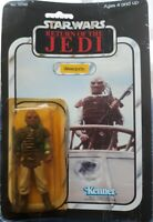 KENNER VINTAGE STAR WARS ROTJ 1983 WEEQUAY 100% COMPLETE + 65-A BACK DEBUT CARD