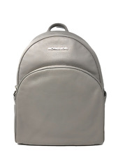 Michael Kors Abbey Large Leather Backpack bag in Grey/Silver