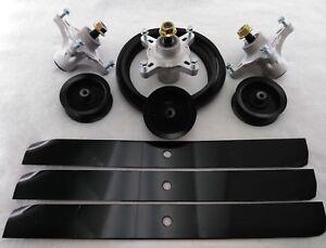 Deck Rebuild Kit Blades Pulley Spindles Belt Toro TimeCutter Z5000 Z5020 Z5030