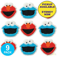 SESAME STREET PARTY SUPPLIES 9pc CUPCAKE CAKE EDIBLE ICING DECORATION TOPPERS