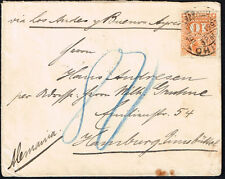 2717 CHILE TO GERMANY COVER 1897 RULETEADOS VALPARAISO - HAMBURG VIA BS, AIRES