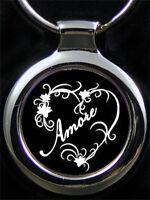 Amore Herz Liebes Schlüsselanhänger als Bildgravur inkl. Textgravur