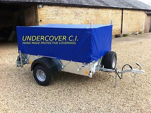 HAND MADE TRAILER COVER FOR THE IFOR WILLIAMS P5E WITH HIGH SIDED MESH KIT