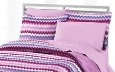 QUEEN - Style Lounge - Blackberry Chevron BEDSKIRT, SHAM & COMFORTER SET