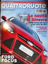 Quattroruote 665 2011 Test Ford Focus. Prove Alfa Giulietta, Jaguar XF [Q74]