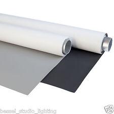 Bessel Paquete de 2 - 2m x 5m Dual Sided Blanco & Gris + & Negro Fondo Vinilo