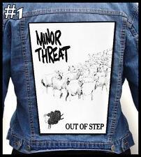 MINOR THREAT  === Huge Back Jacket Patch/Aufnäher === Various Designs