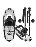 ALPS Kids Snowshoes For Youth&Boy&Girl+Optional Snowshoe Poles+Free bag 14/17/19