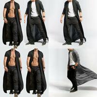Men Adult Long Cardigan Length Baggy Loose Full Casual Cape Coat Cloak New Tops