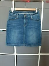 M&S womens blue denim skirt size 8 Marks and Spencer clothing clothes