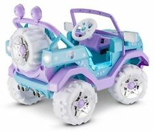 Disney Frozen 4X4 Jeep 6V Ride On Blue Purple Girls Gift Automobile Toy Car New.