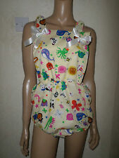 ADULT BABY SISSY ROMPER SUIT MULTI  ANIMAL PARTY BIB TOP BOWS 30-45  WAIST