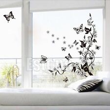 Removable Butterfly Flower Wall Art Decal Vinyl Stickers Home Mural DIY Decor