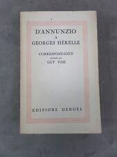 GABRIELE D'ANNUNZIO A GEORGES HERELLE. Exemplaire H.C. n°XV.