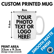 Custom Printed Mug • Personalised Print Cup Business Logo Image Photo Bulk Mugs