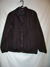 Athletech Black Reversible Polyester Fleece Wind Breaker Jacket Sz XL