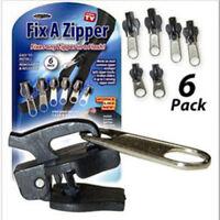 Black 6Pcs Fix A Zipper Zip Slider Rescue Instant Repair Kit Replacement