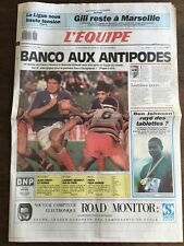 Journal l'Equipe - 16 Juin 1989 - 44 eme année - n 13409