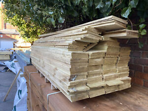 """5"""" 1.8m Feather Edge Boards - Treated - Bulk Buy Available"""