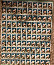 1928 CHRISTMAS SEALS FULL SHEET (100)