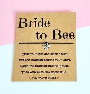 Bride To Bee Wish Bracelet Bee Charm Bracelet Bridal Gift Bridal Shower Favors