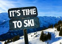 Cool Skiing Sign Poster Size A4 / A3 Ski Snow Winter Sports Poster Gift #13033