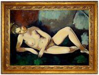 Ölbild Nude, Faistauer Anton, liegender Akt, ÖLGEMÄLDE,HANDGEMALT F:50x70cm
