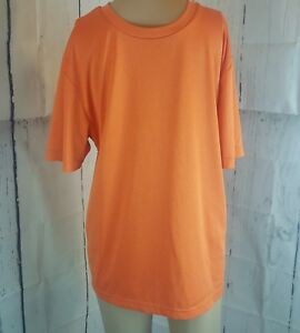 Reebok Men's Workout Fitness Shirt Orange Size Small