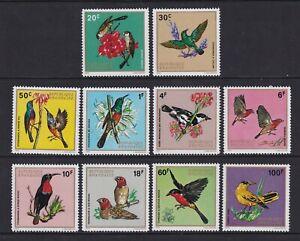 Ruanda - 1972 , Ruanda Aves Juego - MNH - Sg 469/78